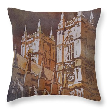 Shining Out Of The Rain Throw Pillow by Jenny Armitage