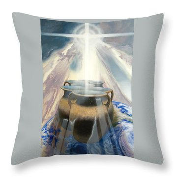 Shining Pots Throw Pillow
