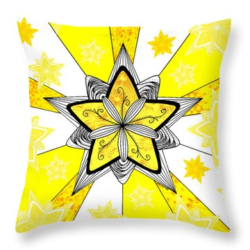 Shining Star Throw Pillow by E B Schmidt