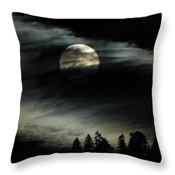 Shining Through Throw Pillow by Leah Moore