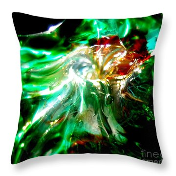 Shining Through The Glass II Throw Pillow by Kitrina Arbuckle