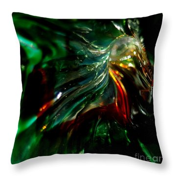 Shining Through The Glass Throw Pillow by Kitrina Arbuckle