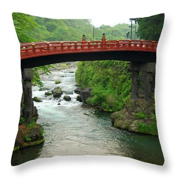 Shinkyo In Nikko Throw Pillow