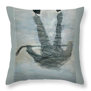 Shinny Shilouette Wc Throw Pillow