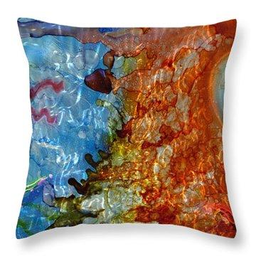 Shinto Gods Throw Pillow by Luis  Navarro