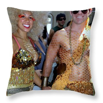 Throw Pillow featuring the photograph Shiny Happy People by Ed Weidman