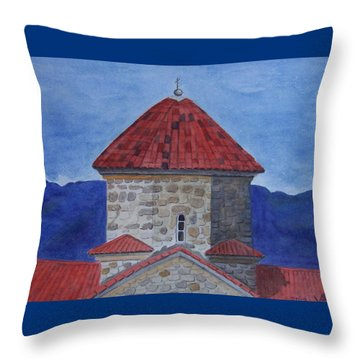 Shio Mgvime Monastery In Rep. Of Georgia Throw Pillow