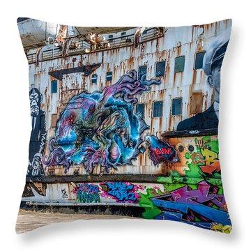 Ship Art Throw Pillow
