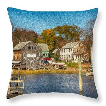 Ship Builder Throw Pillow