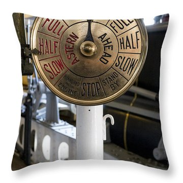 Ship Control Telegraph Throw Pillow by Steven Ralser