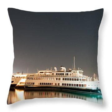 Ship Throw Pillow by Gandz Photography