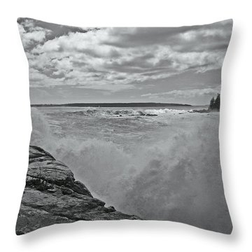 Ship Harbor Rouge Wave Throw Pillow by David Rucker