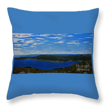 Ship Harbour From Sugarloaf Hill Throw Pillow by Barbara Griffin