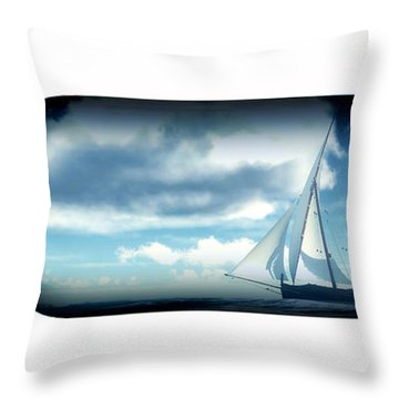 Throw Pillow featuring the digital art Ship In Bottle... by Tim Fillingim