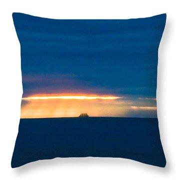 Ship On The Horizon Throw Pillow