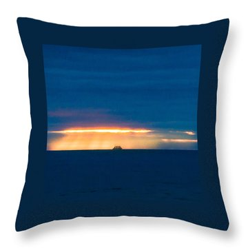 Ship On The Horizon Throw Pillow