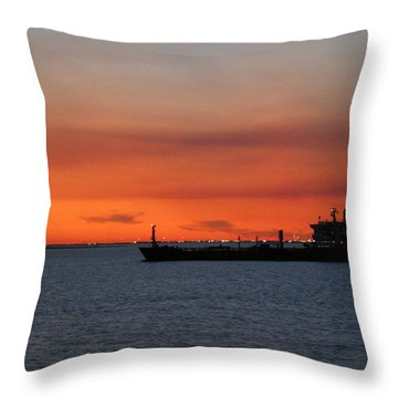 Ship Outbound Throw Pillow
