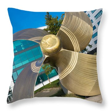 Ship Screw Throw Pillow by Hans Engbers