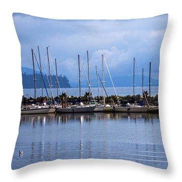 Throw Pillow featuring the photograph Ship To Shore by Jordan Blackstone