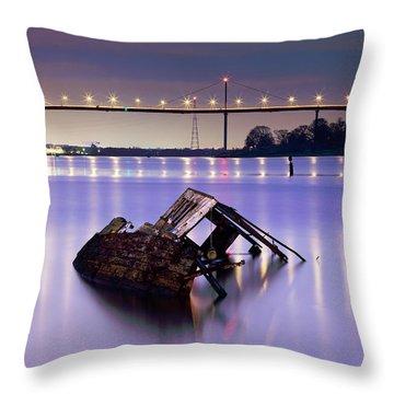 Ship Wreck Throw Pillow by Grant Glendinning