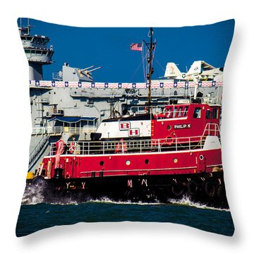 Shipping Lane Hero Throw Pillow