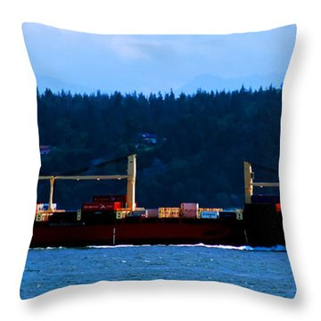 Shipping Lane Throw Pillow