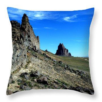 Throw Pillow featuring the photograph Shiprock by Alan Socolik