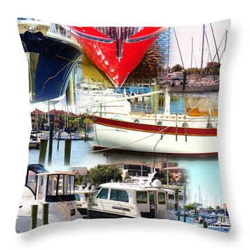 Ships Ahoy... Throw Pillow