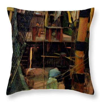 Ship's Carpenter Throw Pillow