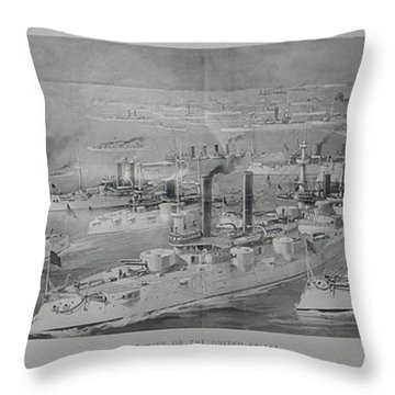 Throw Pillow featuring the digital art Ships by Cathy Anderson