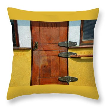Ship's Head Throw Pillow by Ed Hall