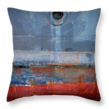 Shipside Abstract II Throw Pillow by Patricia Strand