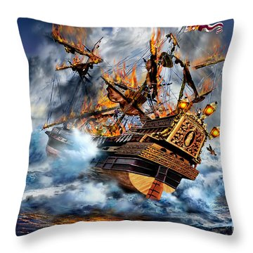 Shipwreck Throw Pillow