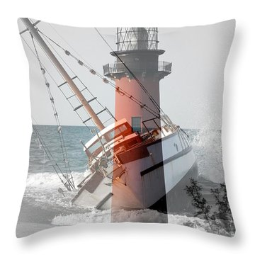 Shipwreck Throw Pillow by George Mount
