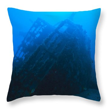Shipwreck On Govenors River Walk Throw Pillow