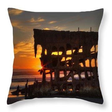 Shipwreck Sunburst Throw Pillow