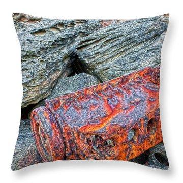 Throw Pillow featuring the photograph Shipwrecked ? by Miroslava Jurcik