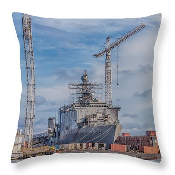 Shipyard Throw Pillow