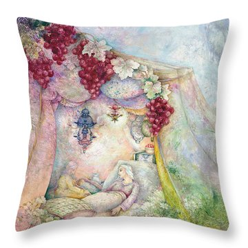 Shir Hamalot Throw Pillow by Michoel Muchnik