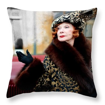 Shirley Maclaine @ Tv Serie Downton Abbey  Throw Pillow