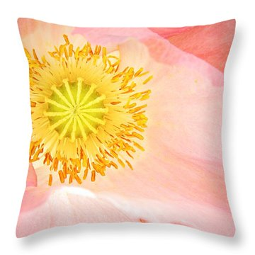 Shirley Poppy Center Throw Pillow by Chris Berry