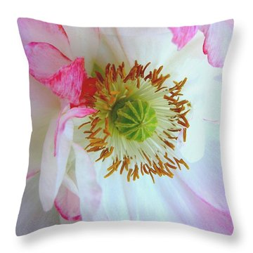 Shirley Poppy Throw Pillow by Shirley Sirois