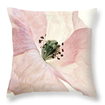 Shirley Watercolor Throw Pillow by Chris Berry
