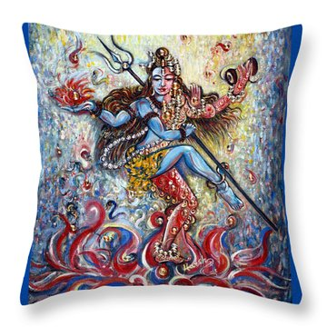 Shiv Shakti Throw Pillow