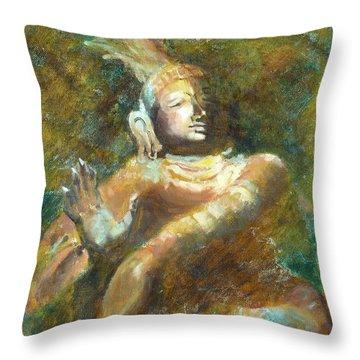 Shiva Creator Destroyer Throw Pillow by Ann Radley