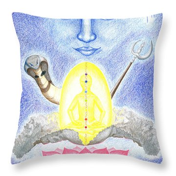 Shiva Throw Pillow by Keiko Katsuta