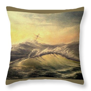 Shivering Beauty Of Storm Throw Pillow by Mikhail Savchenko