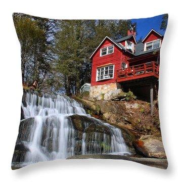 Shoal Creek Falls  Throw Pillow