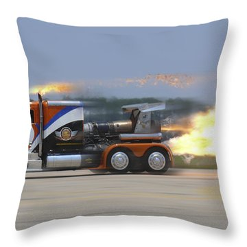 Shockwave Throw Pillow by Mike McGlothlen