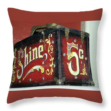 Shoe Shine Kit Throw Pillow by Pamela Walrath